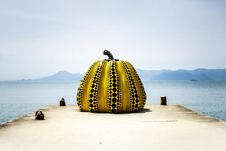直島の黄色いかぼちゃ