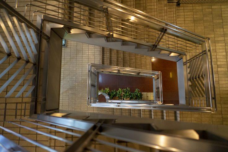 高松市の螺旋階段