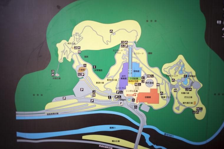 徳島県文化の森総合公園マップ