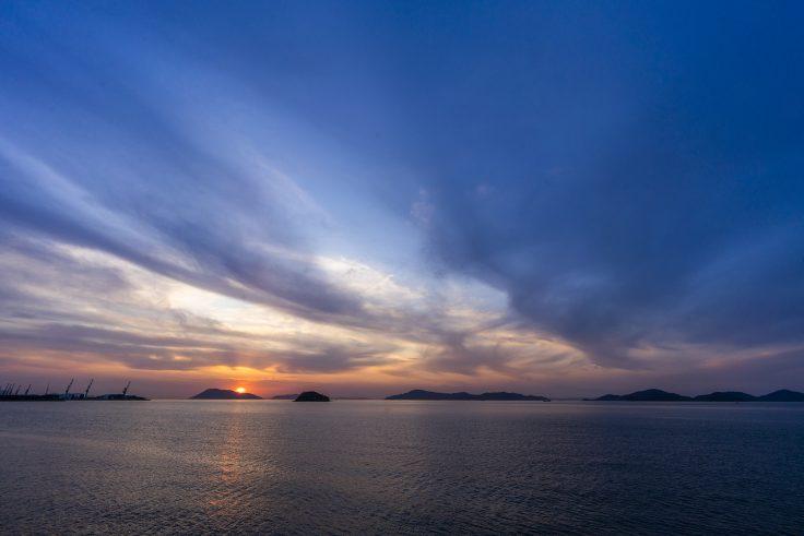 宇多津町から見る瀬戸内海の夕焼け2