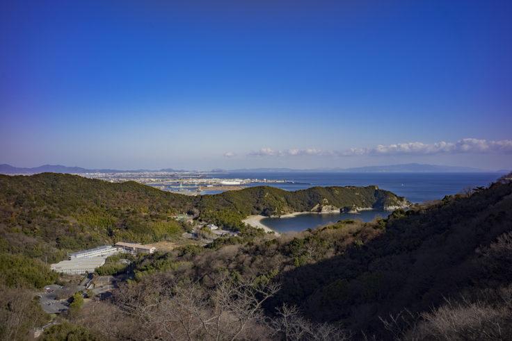 日峯大神子広域公園東屋からの景色