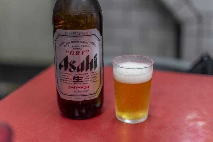 新福菜館のビール