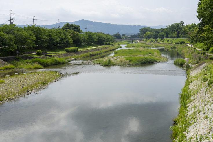上賀茂神社近くの賀茂川