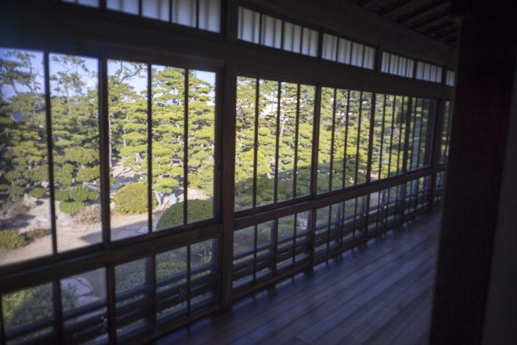 披雲閣2階からの景色