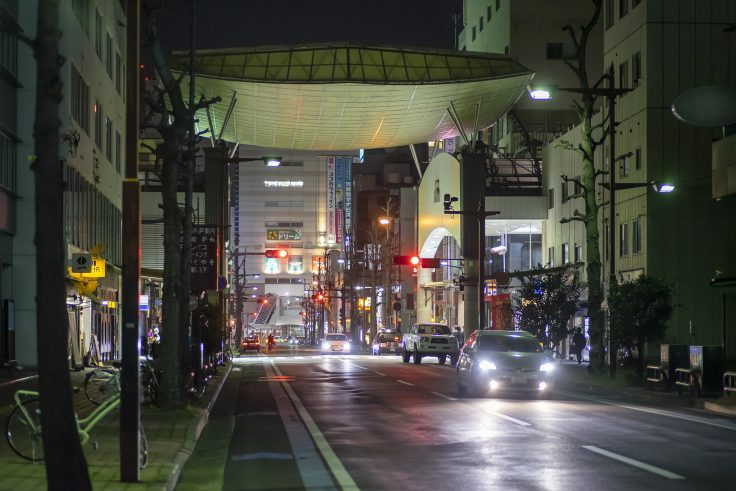 高松市夜景スナップ菊池寛通り