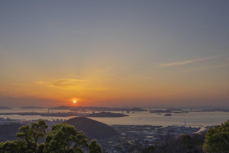 白峰展望台の夕焼け