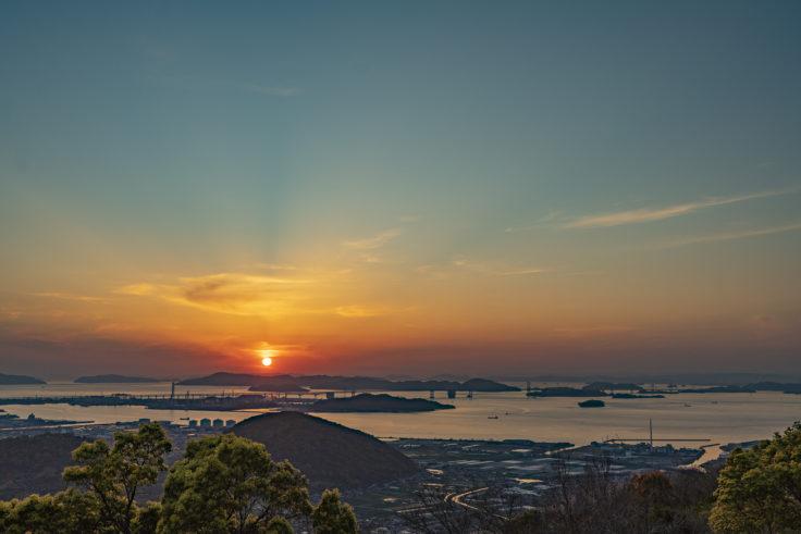 白峰展望台の夕焼け2