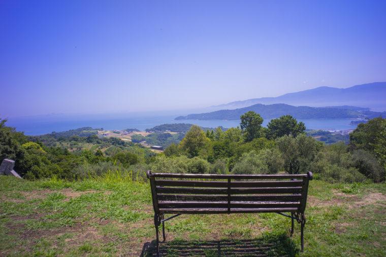 牛窓オリーブ園のベンチ