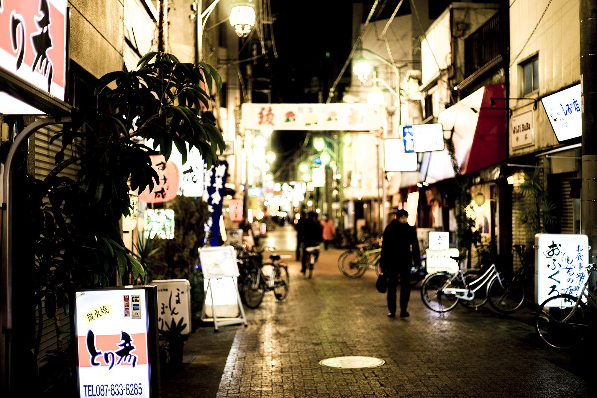 SONY α7+Contax G Planar T*45mm F2で夜散歩【高松市繁華街】編