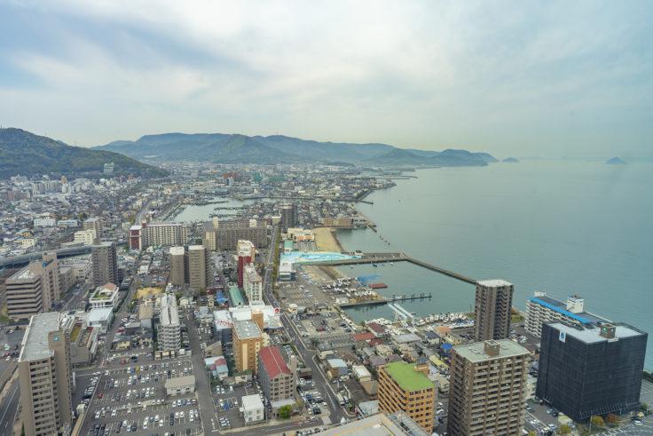 高松シンボルタワー30階からの眺め