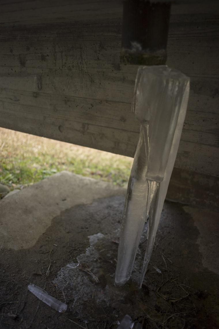 椿の城の氷柱2