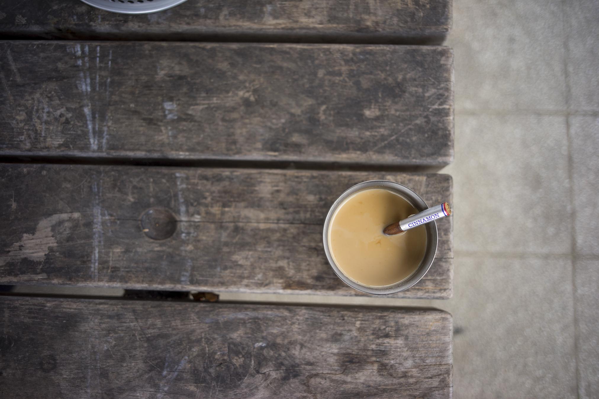 シナモンジンジャーマサラチャイをアウトドアで作る