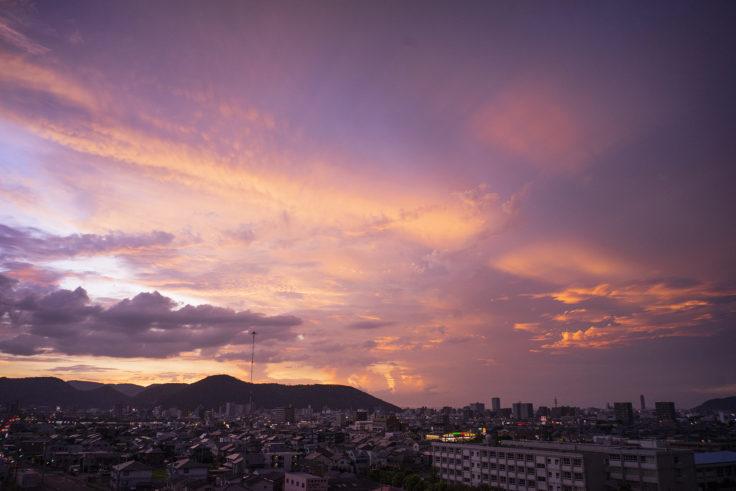 高松市で見た夕焼け