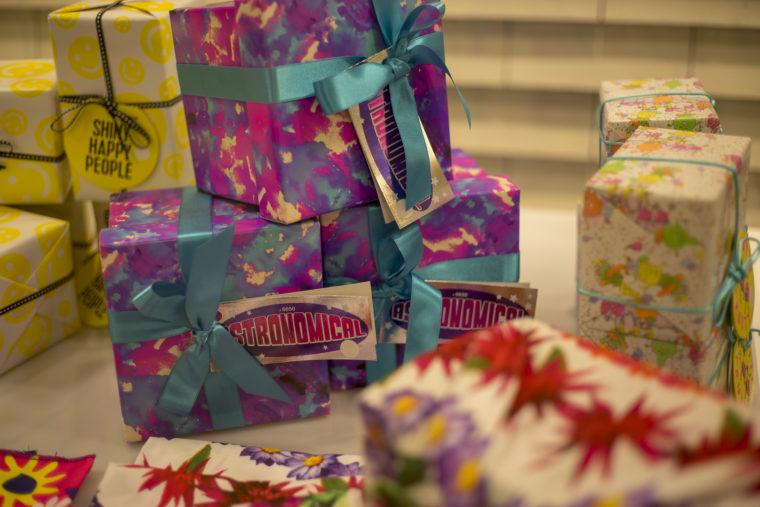 夜のプレゼントボックス