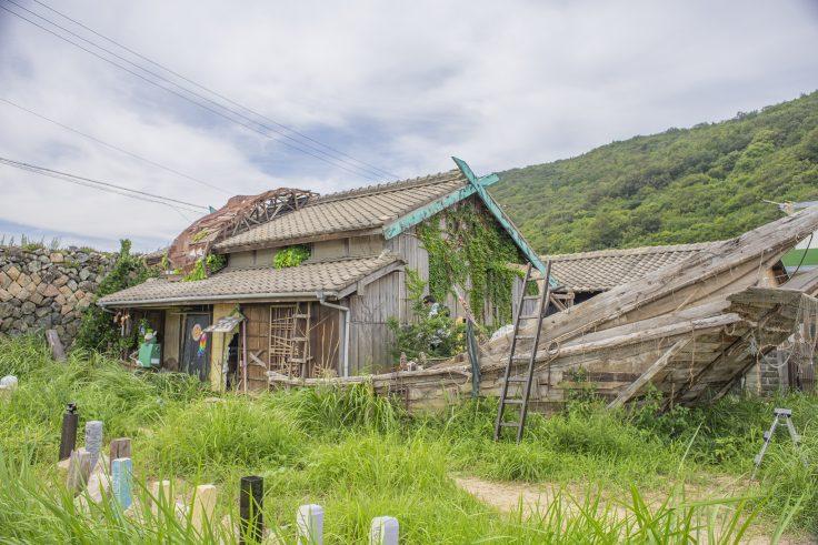 女木島「家船」斜めから