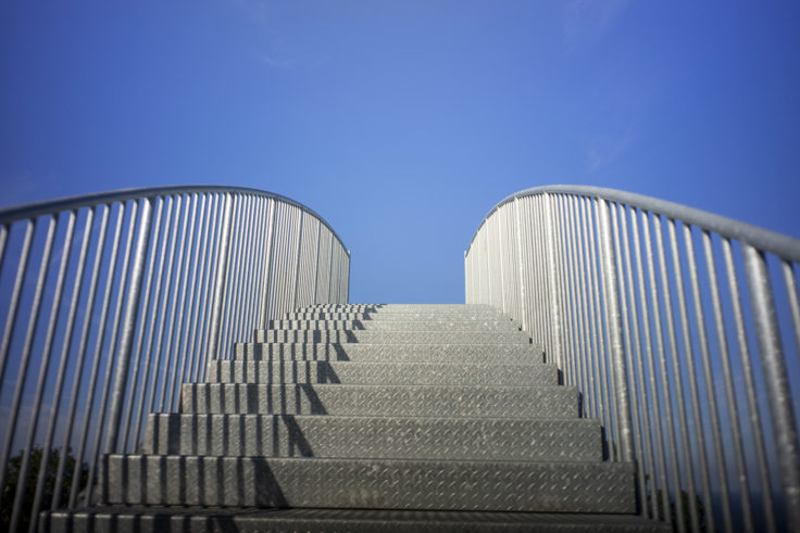 あじ竜王山公園ウォッチタワー階段