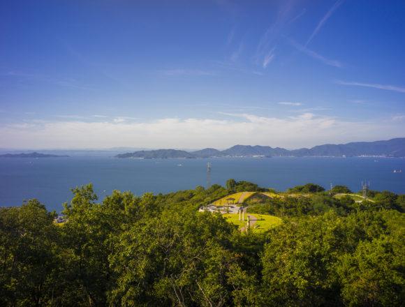あじ竜王山公園ウォッチタワー頂上からの眺め
