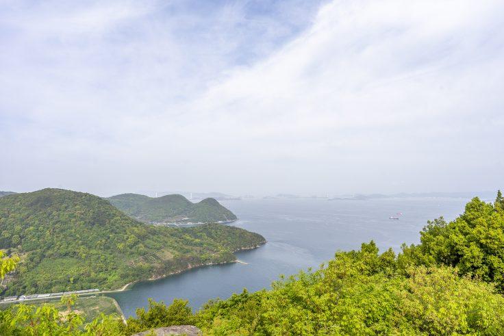 五色台から見た瀬戸内海