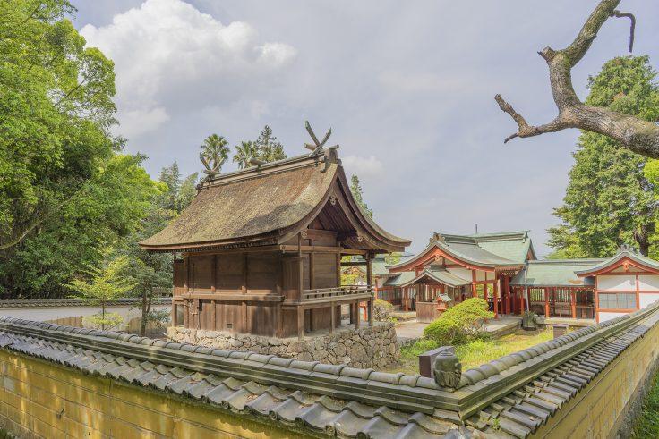 神谷神社本殿裏側