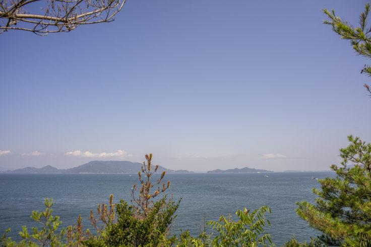 大島東の遠吠からの景色