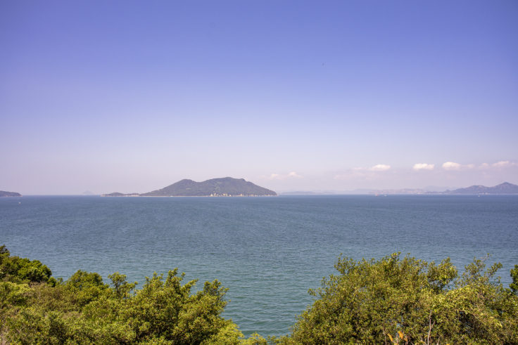 大島西の遠吠からの景色