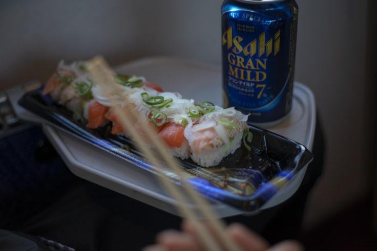 マリンライナーでお寿司