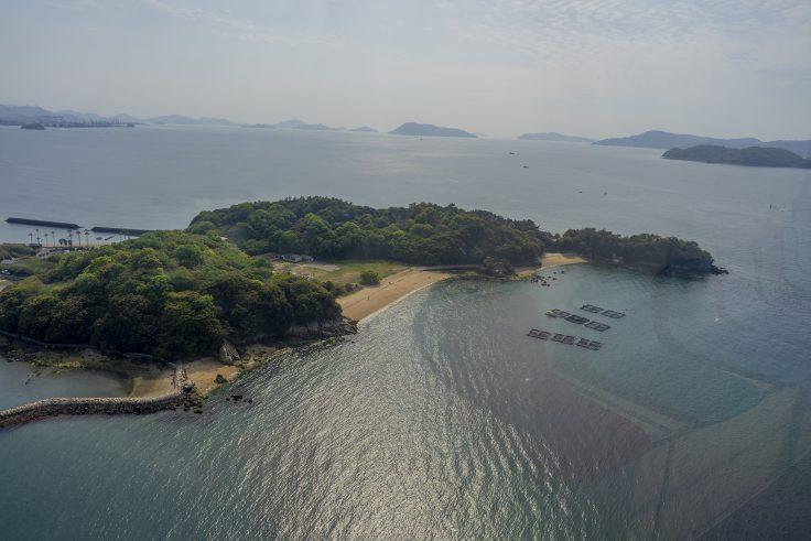 瀬戸大橋タワーから見る沙弥島