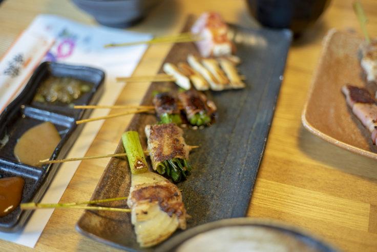 咲蔵ランチの串焼き
