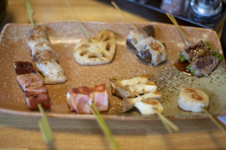 咲蔵ランチの串焼き2