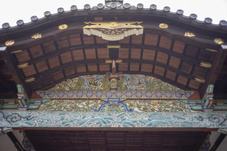 御香宮神社の装飾アップ