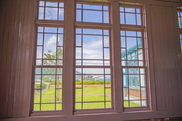 高松市水道資料館の窓