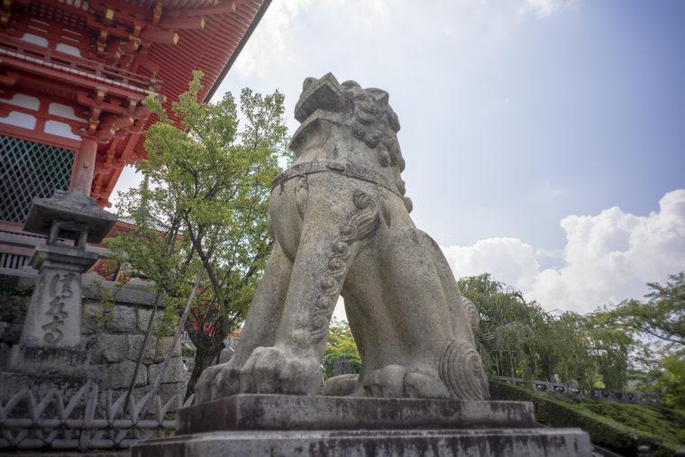 清水寺仁王門の狛犬右