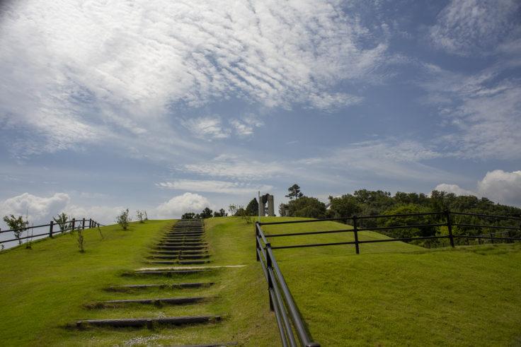 あじ竜王山公園の階段