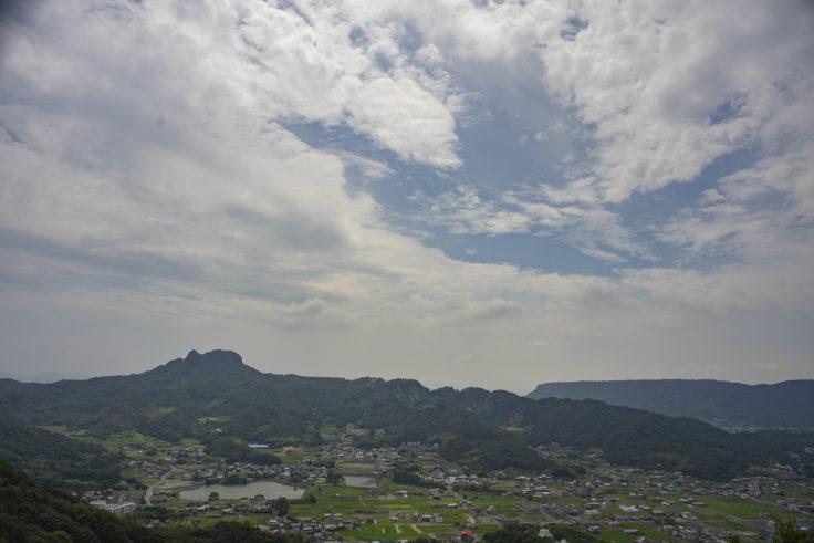 遠見山ボルダリングスポットからの五剣山
