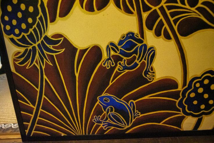 華頂殿襖絵のカエル