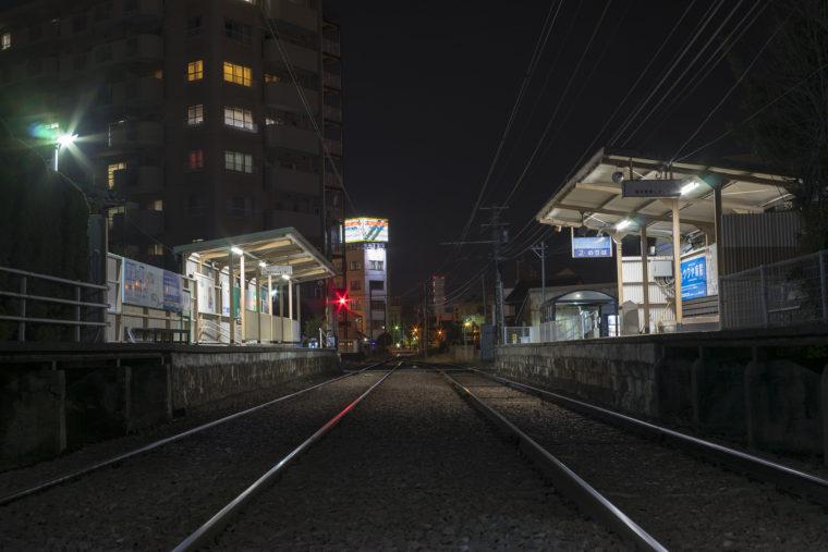 琴電花園駅から見た高松シンボルタワー