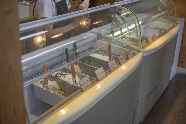 イタリアンジェラートドルチェさんのガラスケース