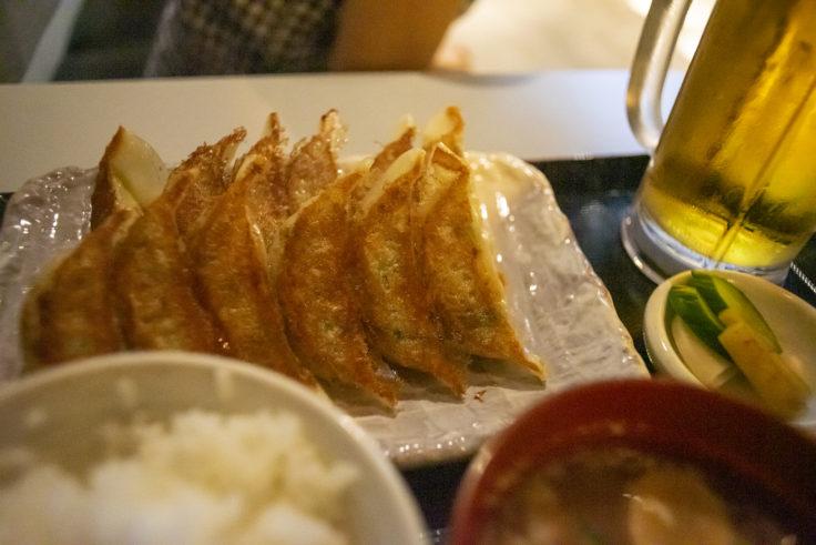 京都タワーの亮昌(すけまさ)餃子定食