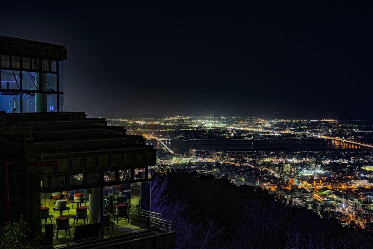 パコダ平和記念塔からの眉山夜景