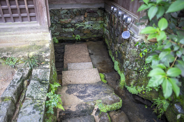宇治上神社の桐原水