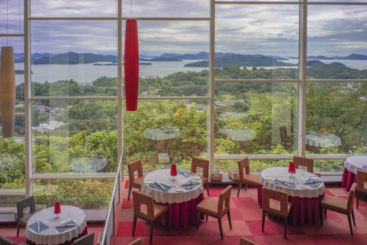 瀬戸内児島ホテルから見た瀬戸内海