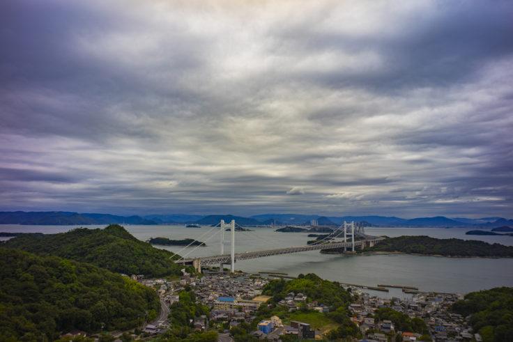 せとうち児島ホテルから見た瀬戸大橋