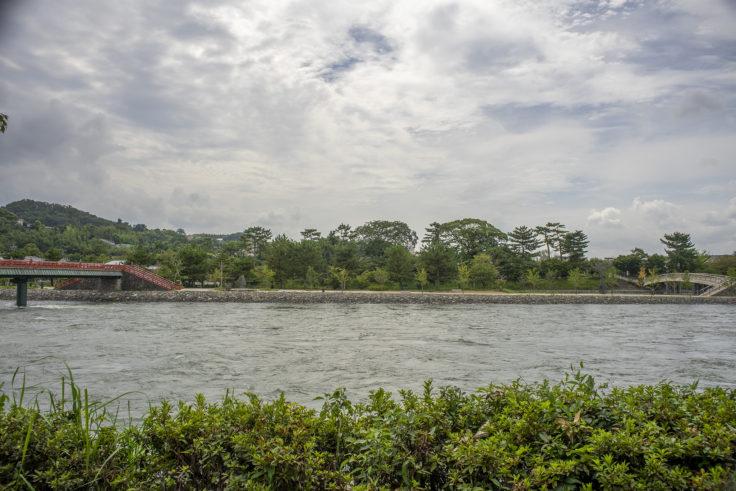 増水した宇治川