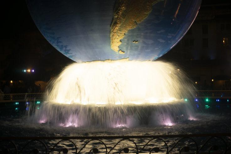 ディズニーシーの噴水