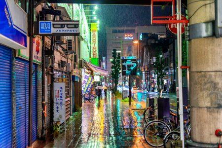 土砂降りの商店街3