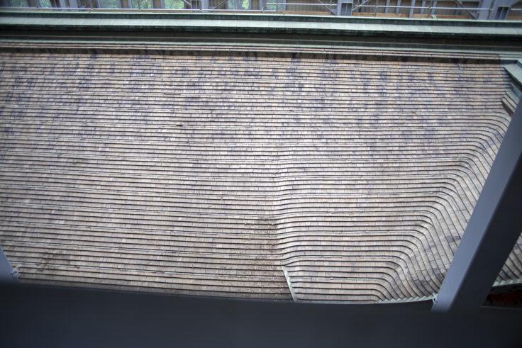 延暦寺根本中堂修復中の屋根3