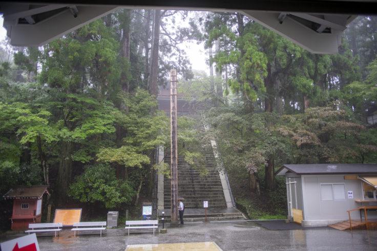 延暦寺根本中堂から文殊楼までの階段
