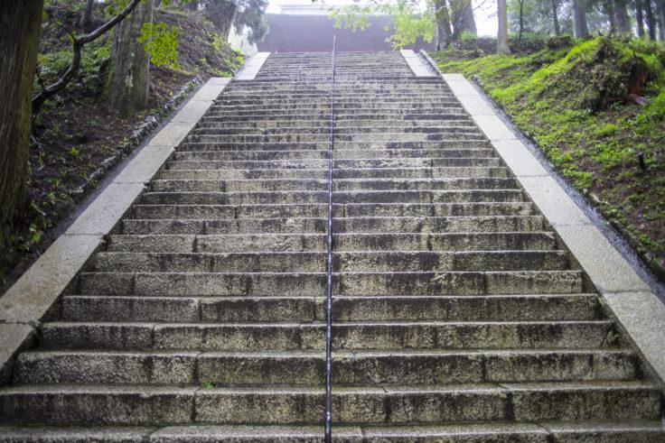 文殊楼への階段