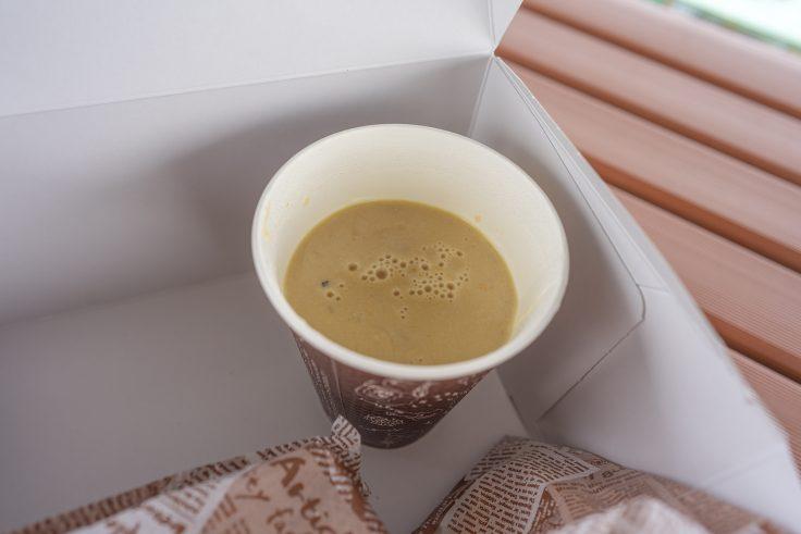 ショコラショコラコーヒーのテイクアウトスープ