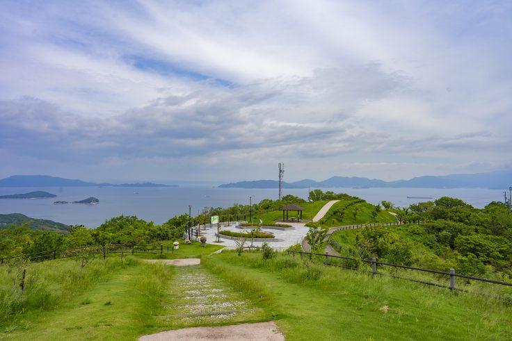 あじ竜王山公園の景色